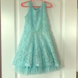 KnitWorks Girls Dress 👗 Turquoise